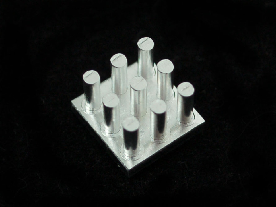 "Aluminum SMT Heat Sink - 0.4""x0.4"" square"