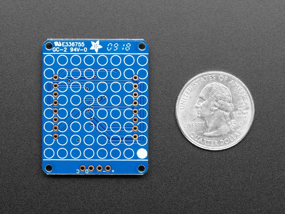 "Adafruit 1.2"" 8x8 LED Matrix Backpack"