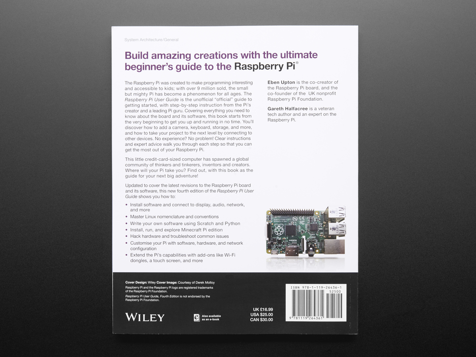 Raspberry Pi User Guide by Eben Upton and Gareth Halfacree - 4th Edition