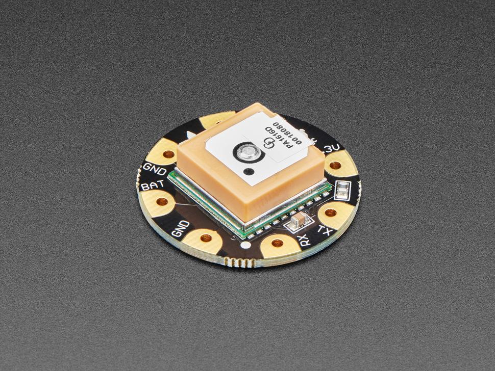 Angle shot of Flora Wearable Ultimate GPS Module