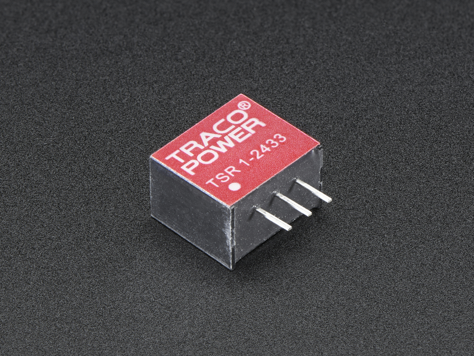 Mini DC/DC Step-Down (Buck) Converter - 3.3V @ 1A output - TSR12433