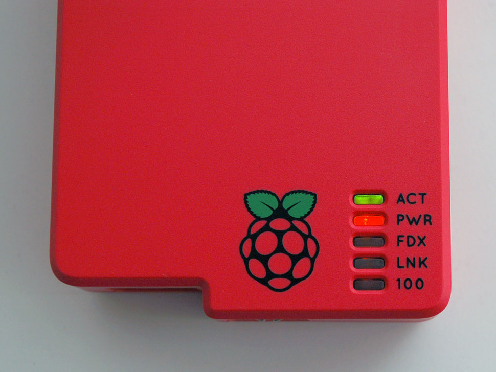 Raspberry Colored Enclosure for Raspberry Pi Model B Computers