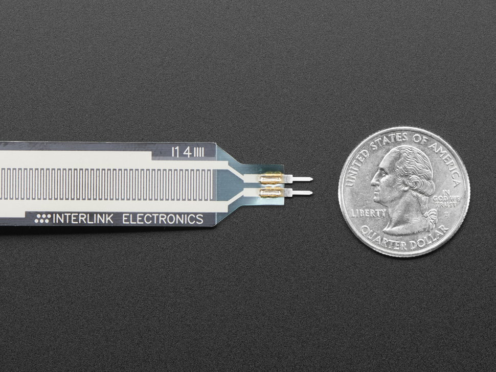 Extra-long force-sensitive resistor (FSR) - Interlink 408
