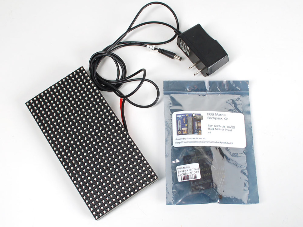 Nootropic RGB Matrix Backpack Kit + 16x32 Matrix Starter Pack