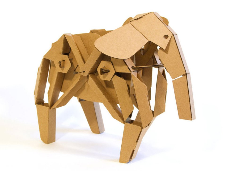 Elly the Elephant cardboard robot