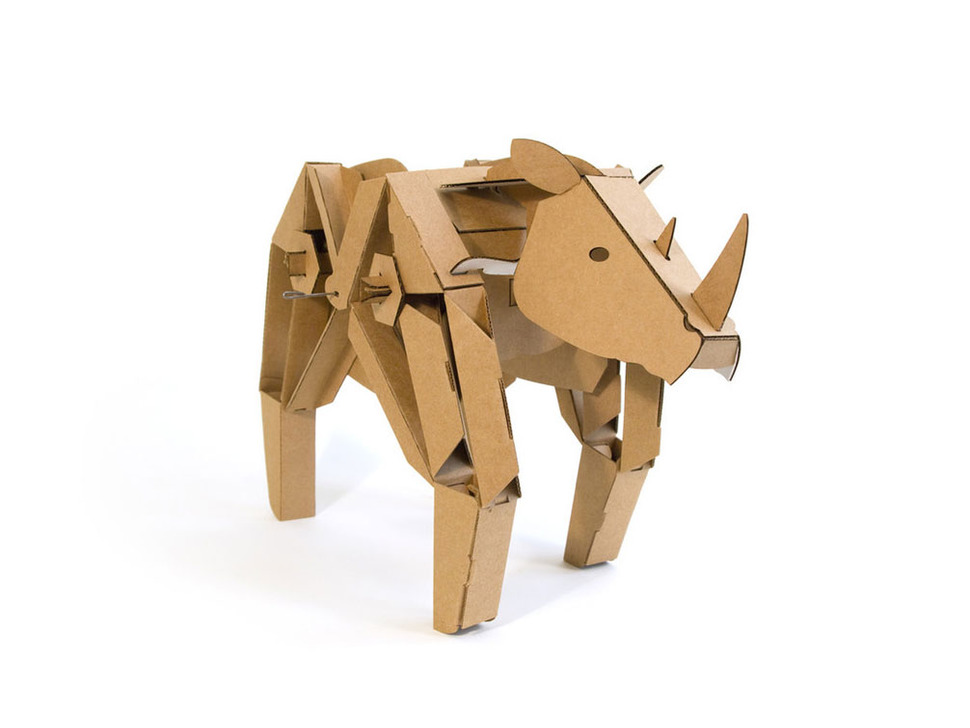 Rory the Rhino cardboard robot