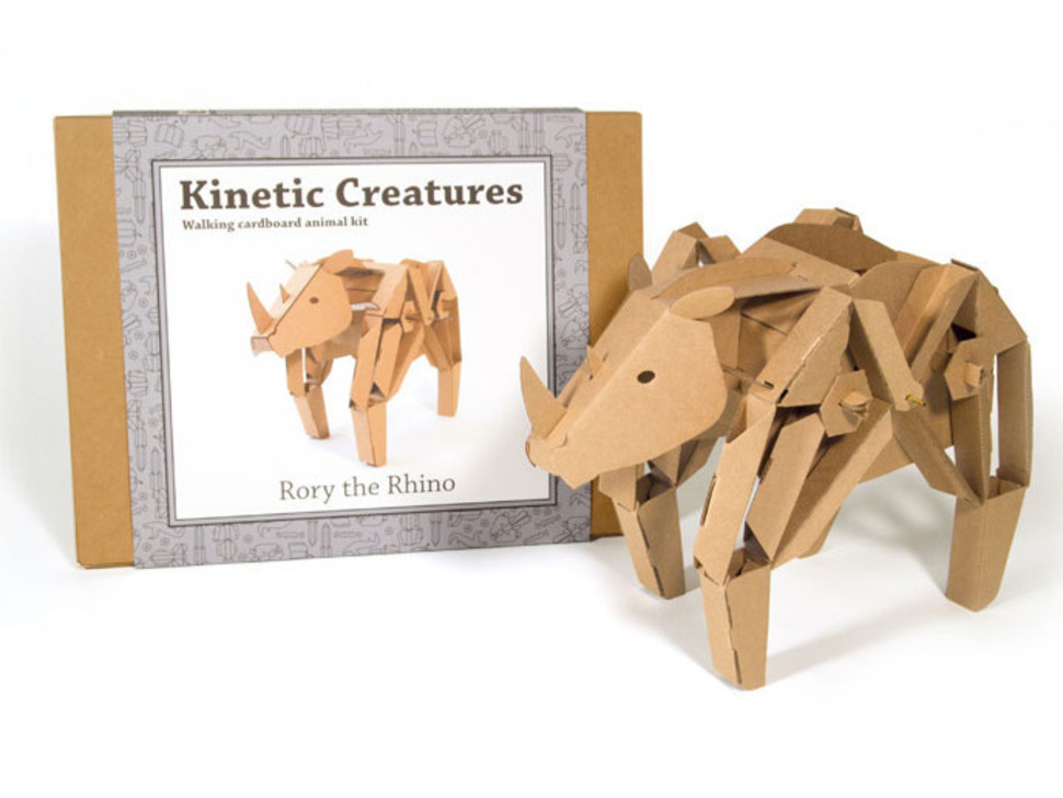 Rory the Rhino cardboard robot packaging