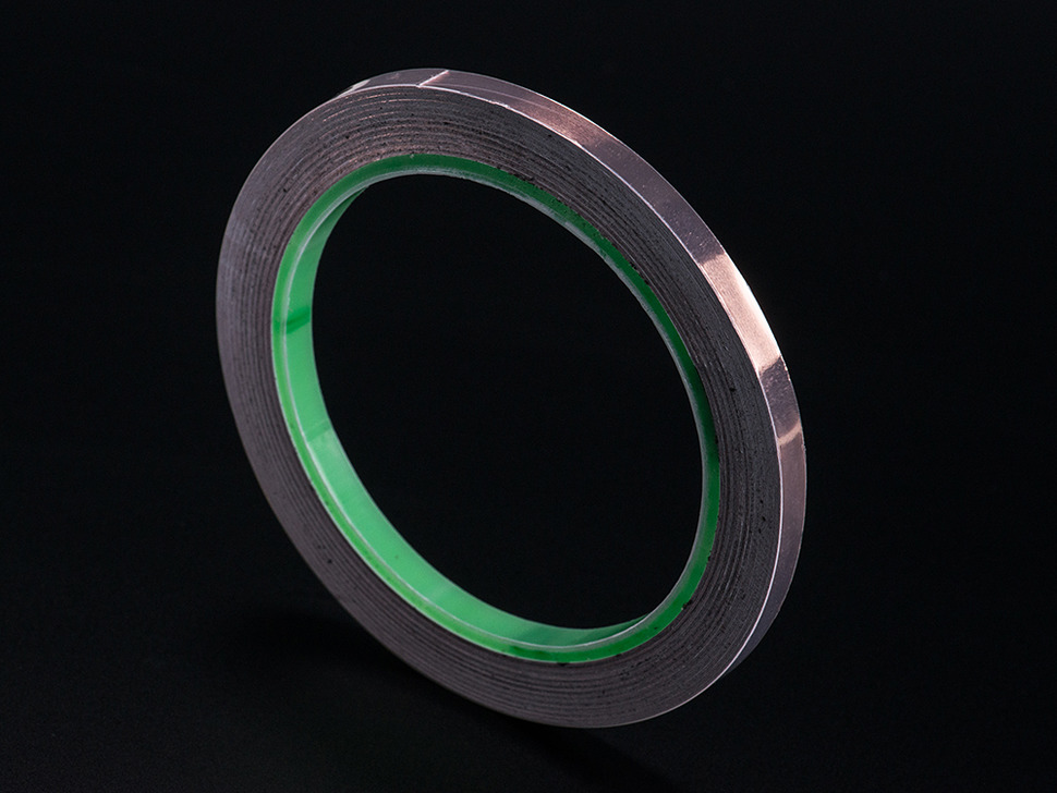 Large roll of quarter-inch wide copper tape.