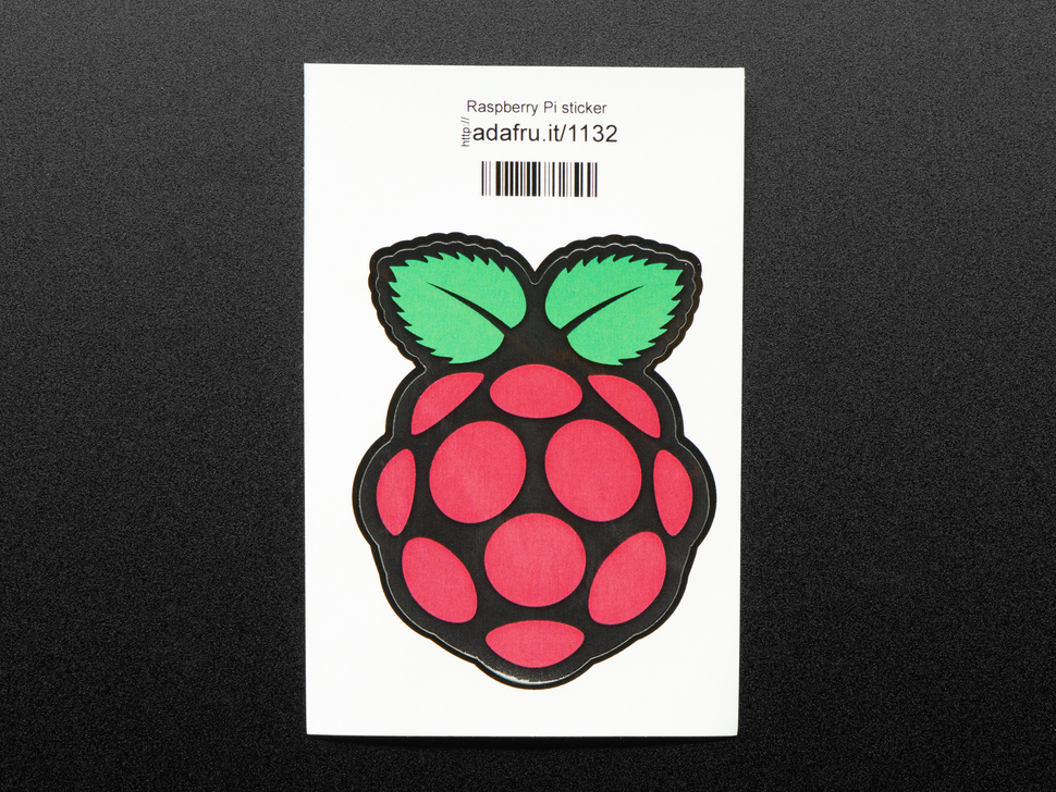 Sticker of a raspberry