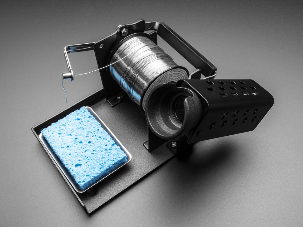 Angled shot showing solder feeder