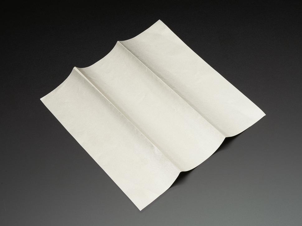 Conductive fabric unfolded