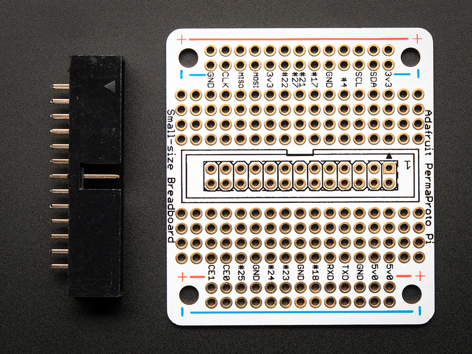 Adafruit Small-Size Perma-Proto Raspberry Pi Breadboard PCB Kit