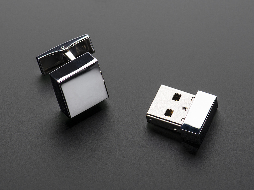 USB Flashdrive Cufflinks - 4 GB Storage