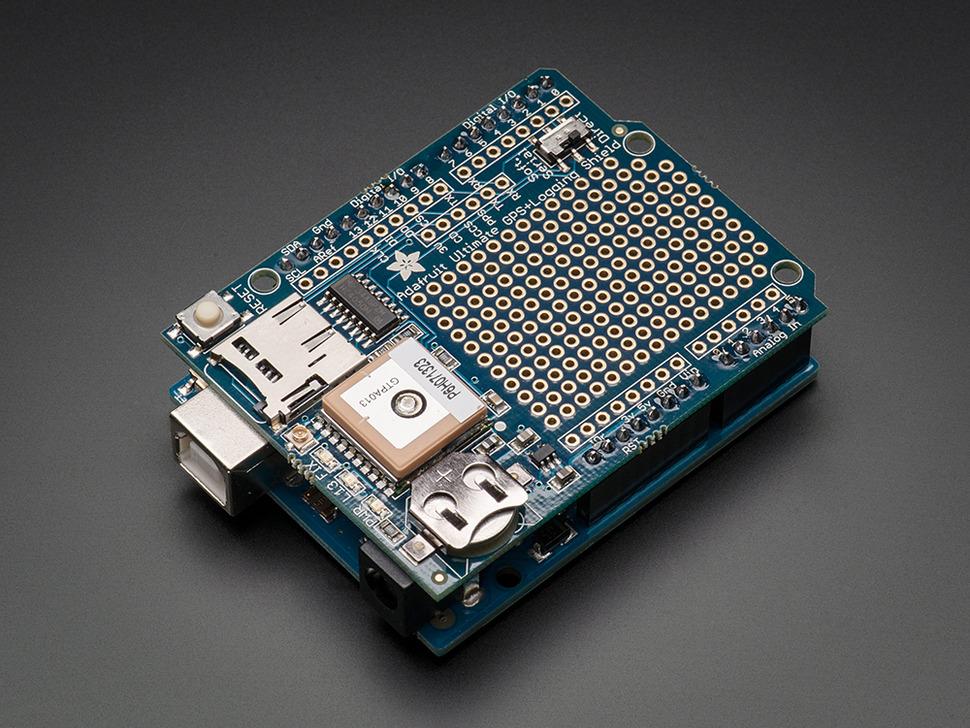 Adafruit Ultimate GPS Logger Shield - Includes GPS Module