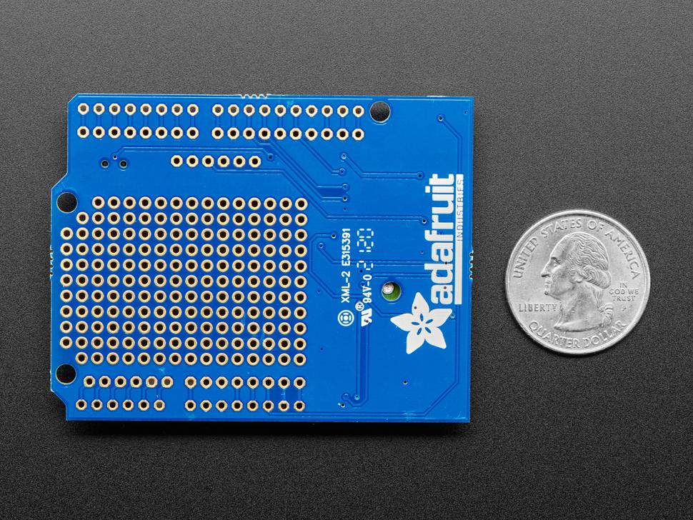 Adafruit Ultimate GPS Logger Shield - Includes GPS Module measured by a US quarter
