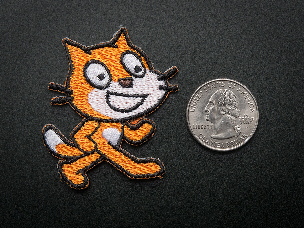Scratch - Skill badge, iron-on patch