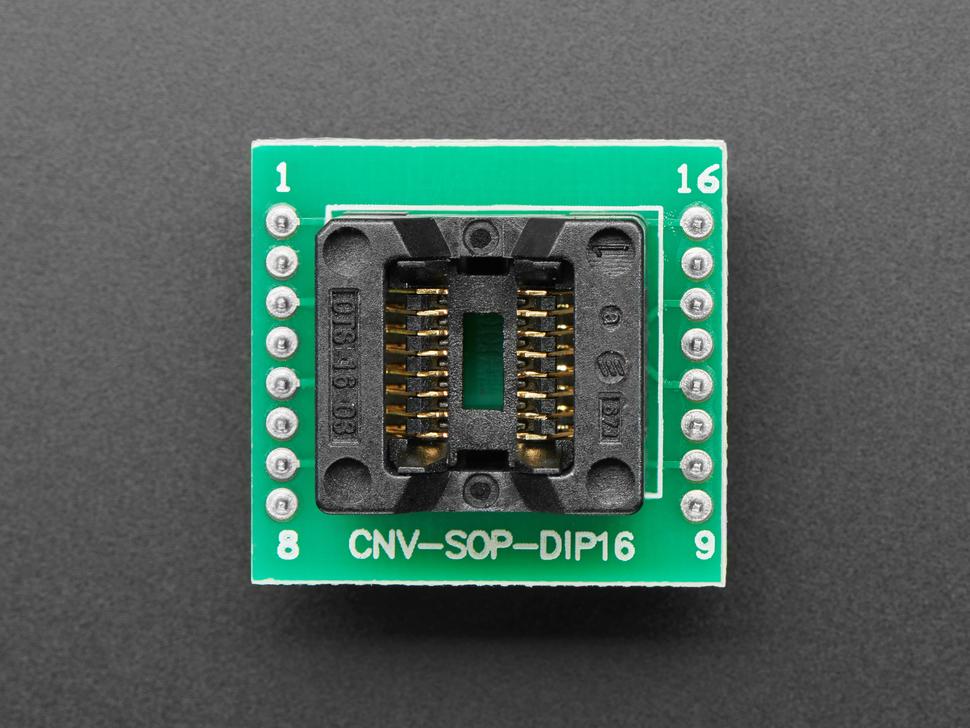 SMT Test Socket - SOIC-16 Narrow Breakout