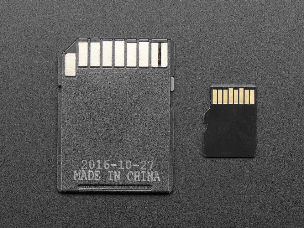 Reverse detail of card and adapter