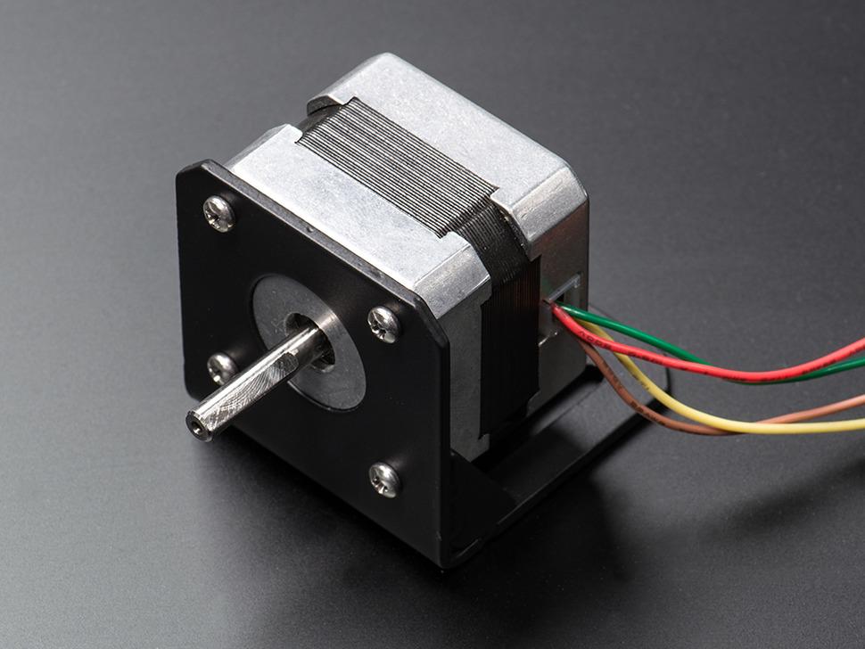 Bent metal stepper motor mount