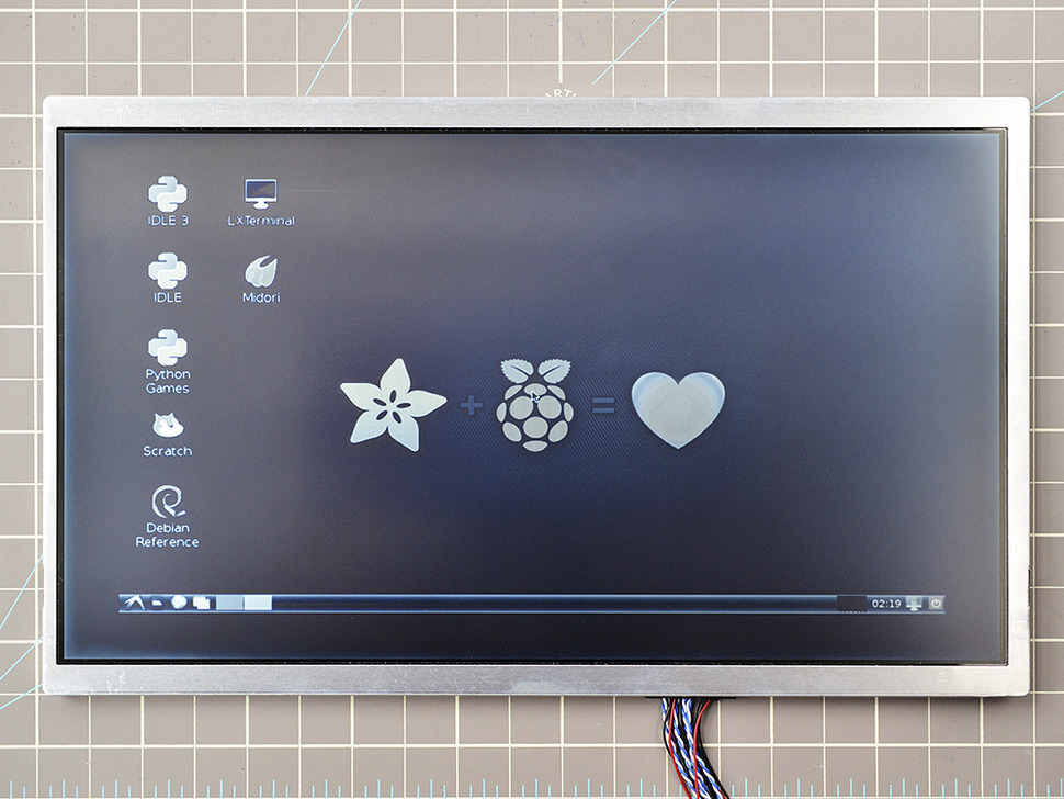 "Pixel Qi 10"" Display with Controller- 1024x600 HDMI/VGA/NTSC/PAL"