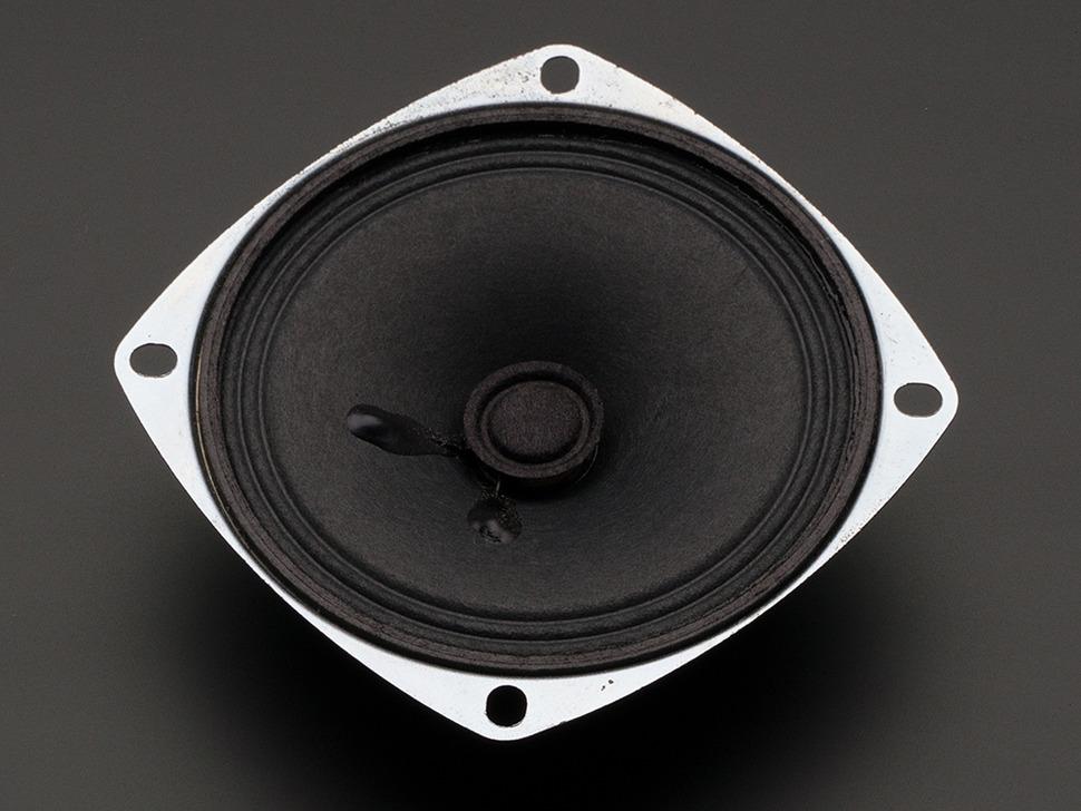 Angled shot of speaker face up