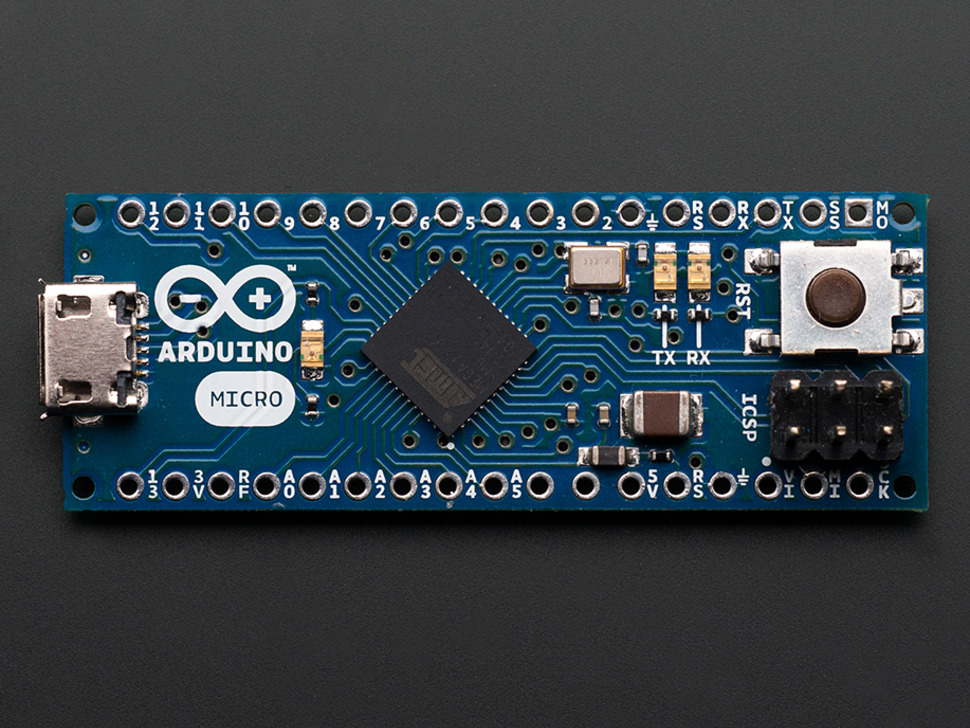Arduino Micro without Headers - 5V 16MHz ATmega32u4 - Assembled