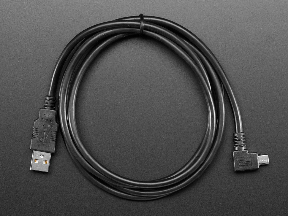 Right Angle USB cable - A/MicroB