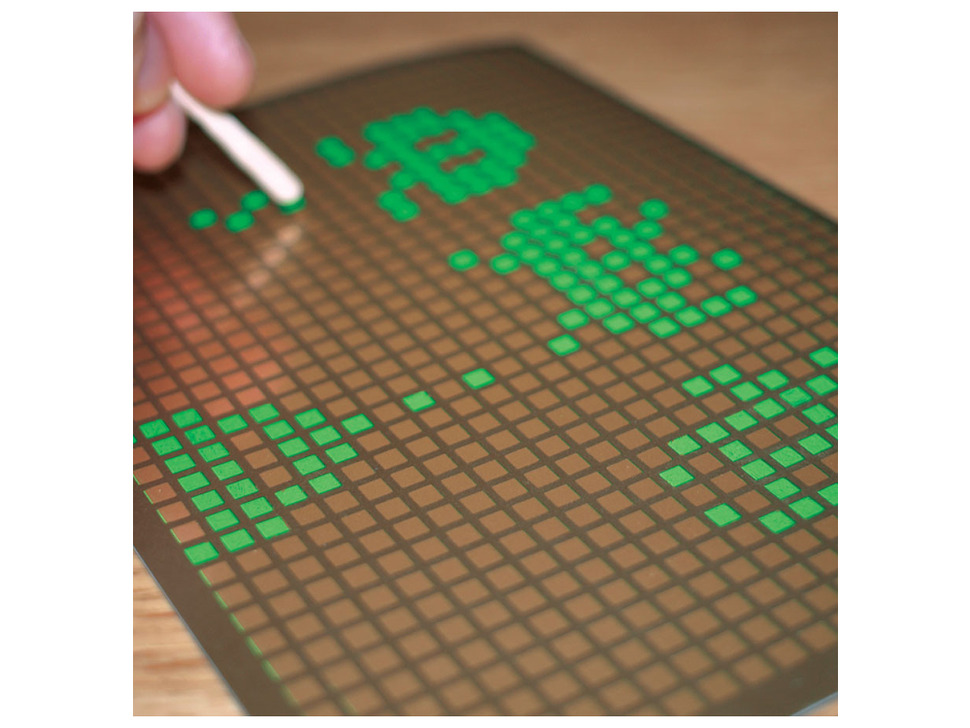 Pixel Art Scratch-Off Card