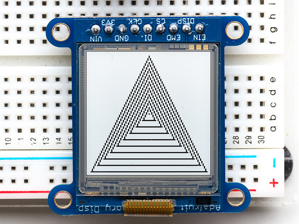 SHARP Memory Display Breakout with triangles display
