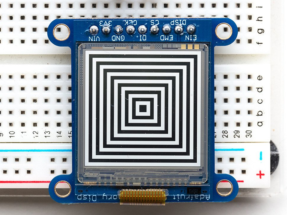 SHARP Memory Display Breakout  with squares display