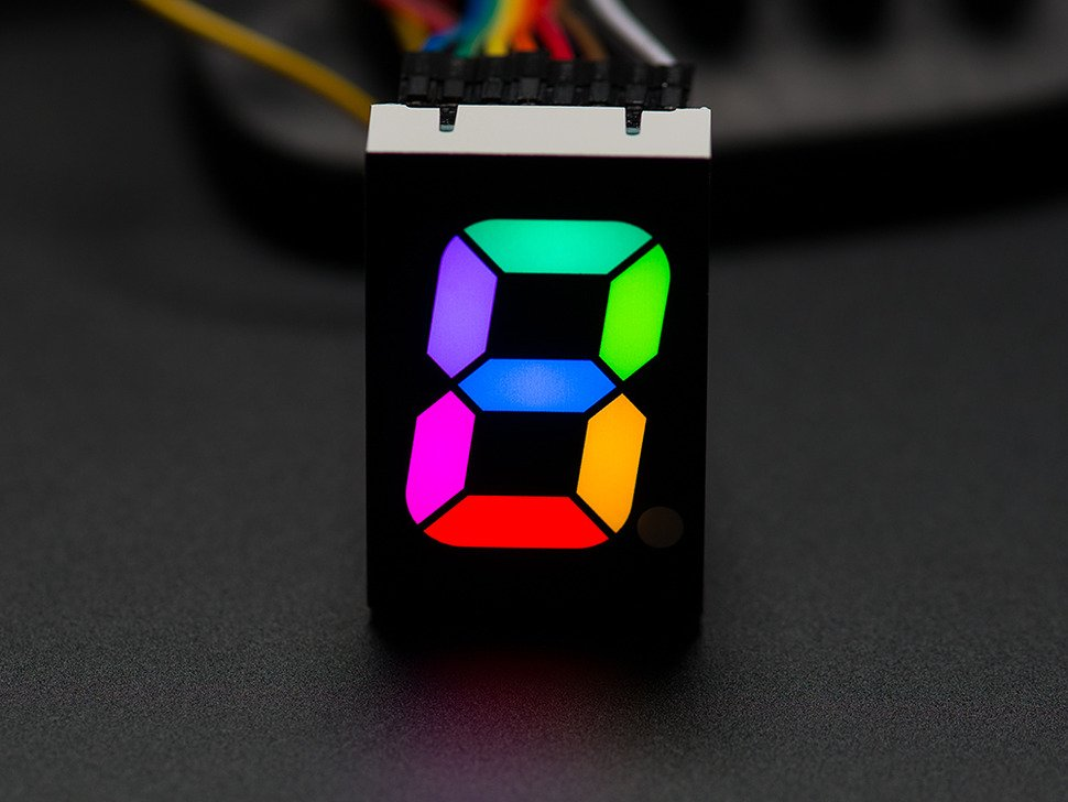 "RGB 7-Segment Digit - 1"" Tall Digit"