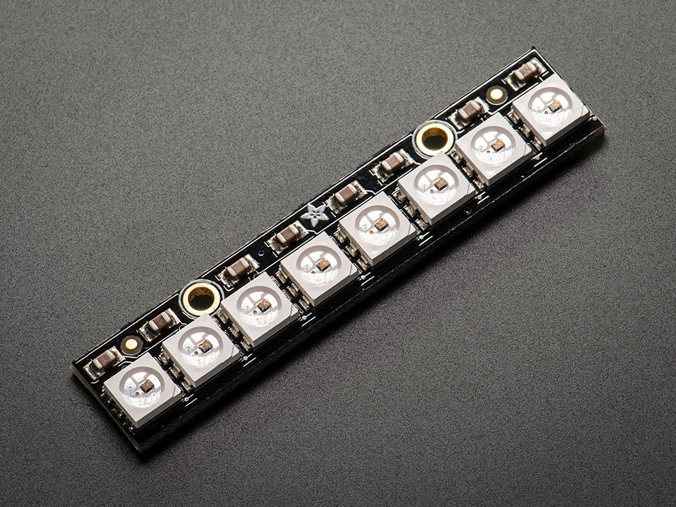 NeoPixel Stick - 8 x 5050 RGB LED with Integrated Drivers