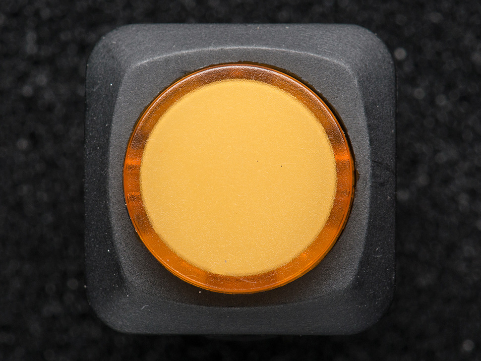 16mm Illuminated Pushbutton - Yellow Latching On/Off Switch