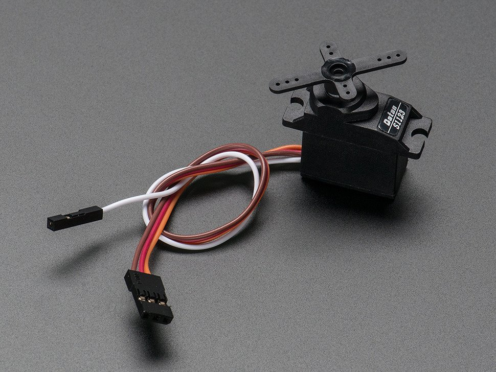Plastic Gear Analog Feedback Micro Servo with three pin cable and one pin cable