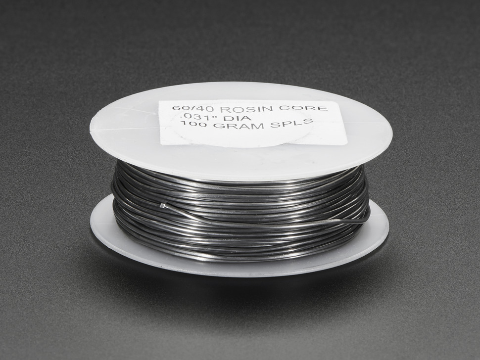 Mini Solder spool - 60/40 lead rosin-core solder 0.031