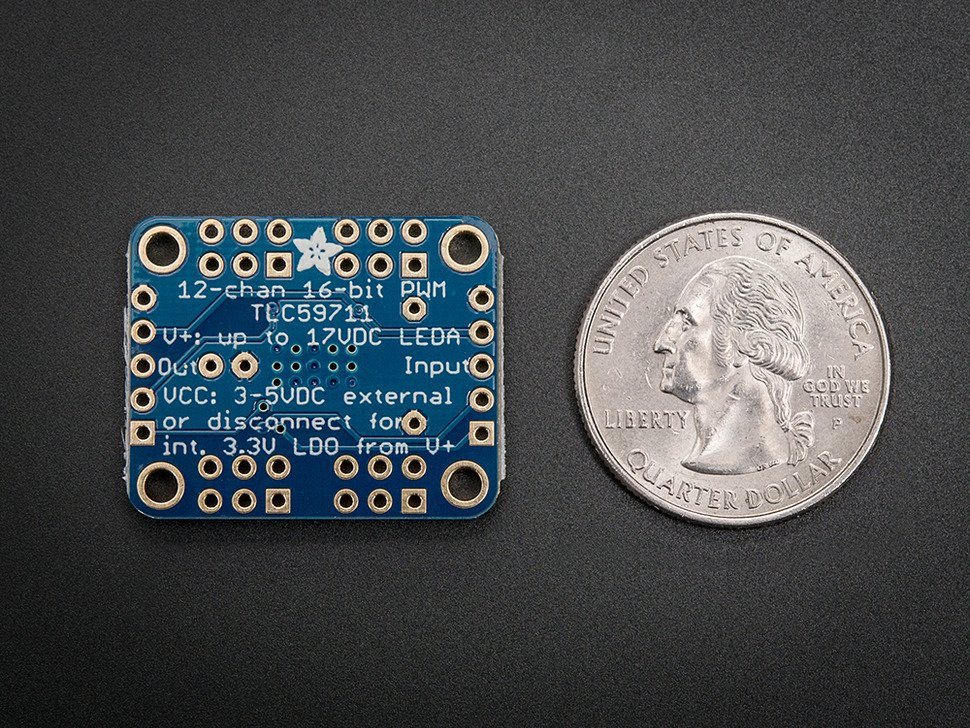 Adafruit 12-Channel 16-bit PWM LED Driver - SPI Interface - TLC59711