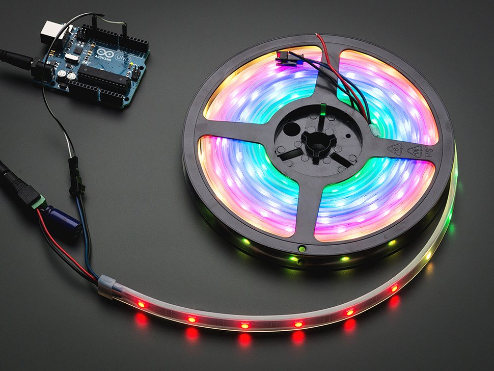 Adafruit NeoPixel Digital RGB LED Strip - Black 30 LED - BLACK