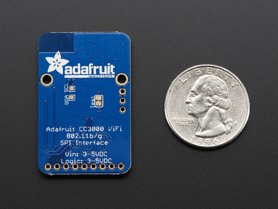 Adafruit HUZZAH CC3000 WiFi Breakout with Onboard Antenna - v1.1