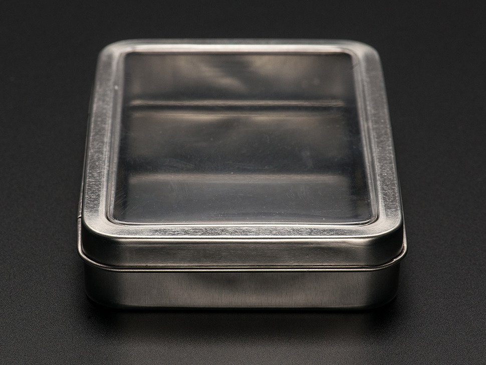 Large Tin With Clear Top Window