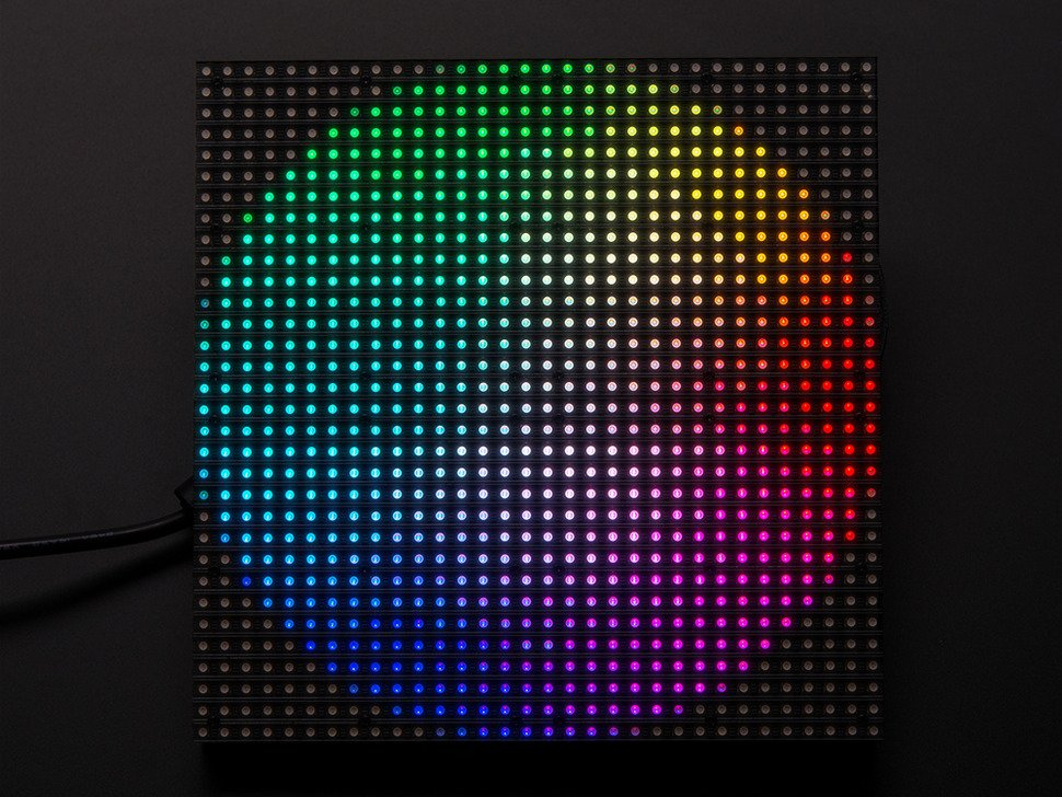 on rgb led display panel