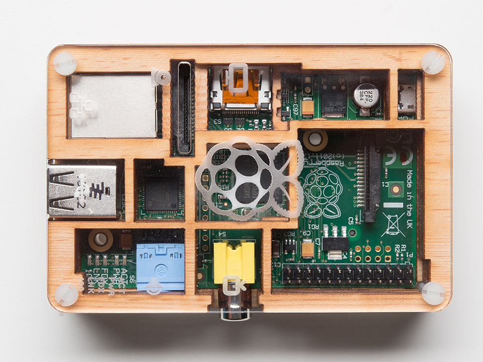 Timber Pibow - Enclosure for Raspberry Pi Model B Computers