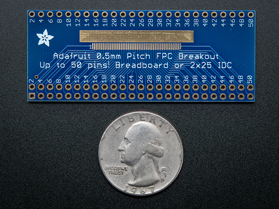 Adafruit 50 pin 0.5mm pitch FPC Adapter
