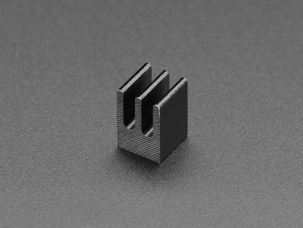 Square aluminum heatsink with 3 fins