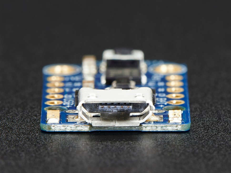 Adafruit Trinket - Mini Microcontroller - 3.3V Logic - MicroUSB