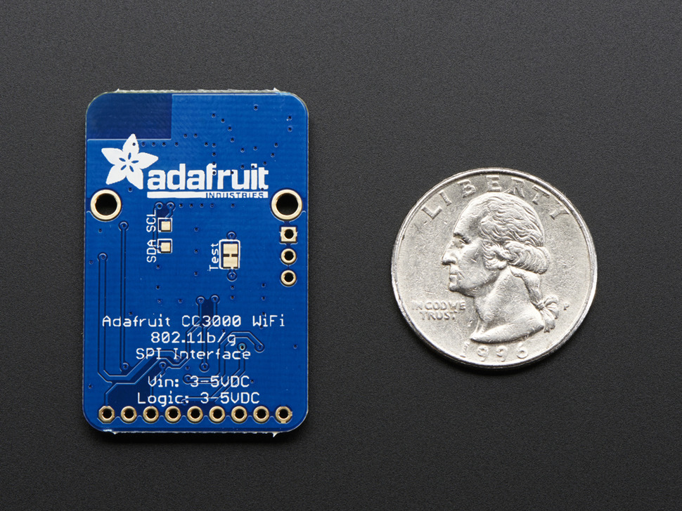 Adafruit CC3000 WiFi Breakout with uFL Connector for Ext Antenna - v1.1