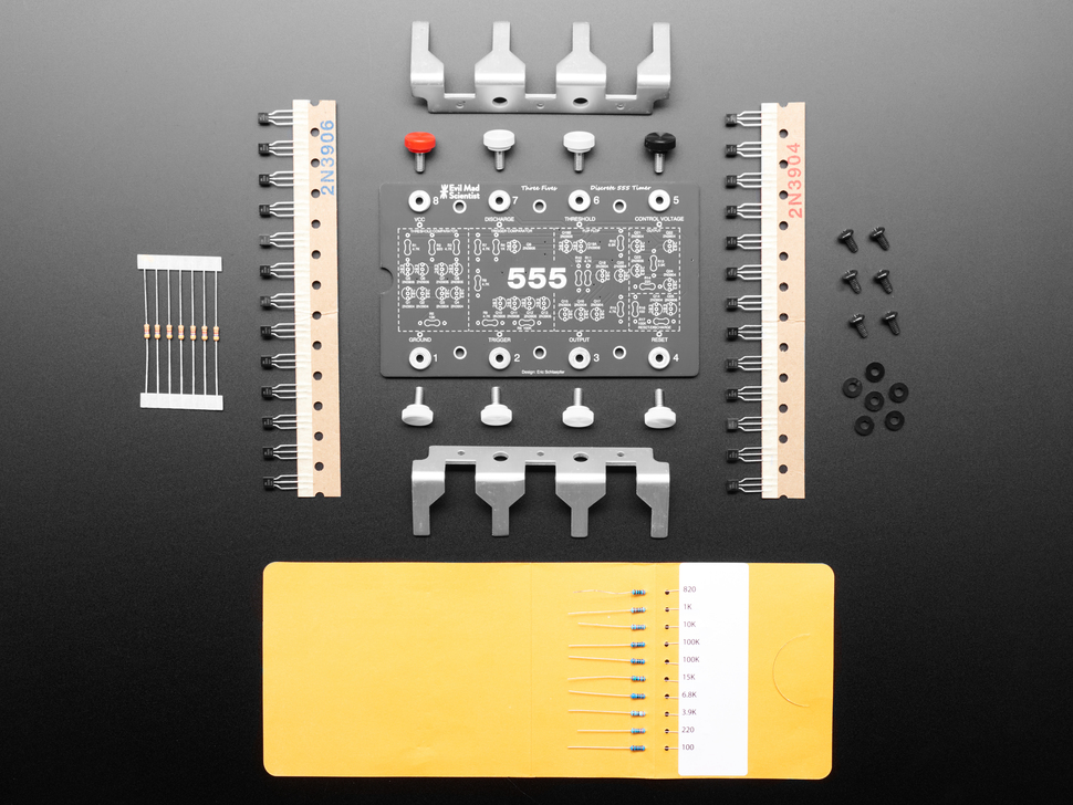 """Three Fives"" Discrete 555 Timer Kit - v2.0"