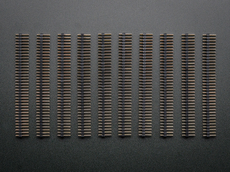 "Break-away 0.1"" 2x36-pin strip dual male header (10 pieces)"