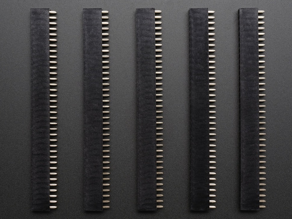 "0.1"" 2x36-pin Strip Straight Socket (Female) Header (5 pack)"