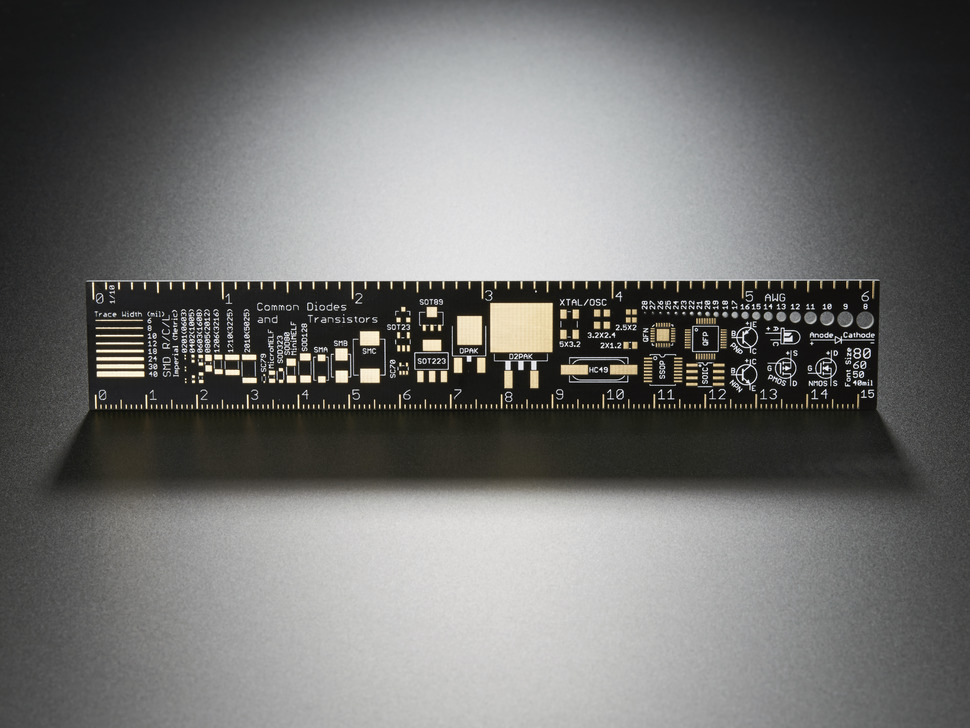 Adafruit PCB Ruler v2 - 6