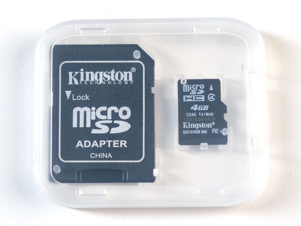 4GB SD Card for Raspberry Pi preinstalled with RaspBMC (XBMC) in a small clear plastic case